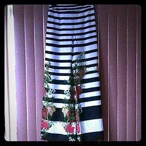 Lovely wide leg striped pants